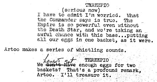 Empire Original Script -- Eggs Baskets